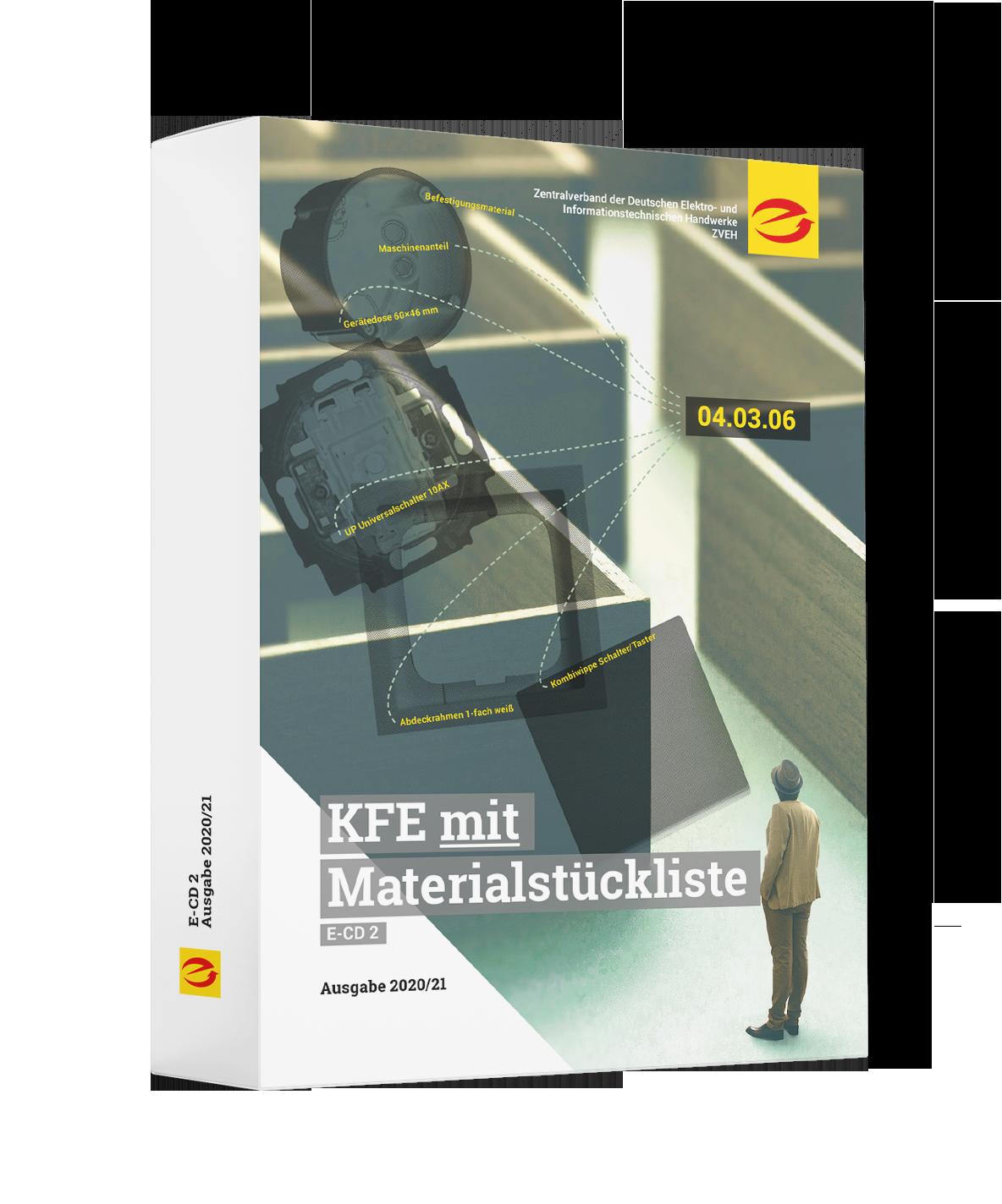KFE-Daten mit Materialstückliste, Ausgabe 2020/21 (ehemals E-CD 2)