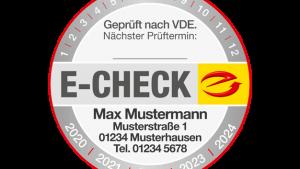 E-CHECK Autotür-Magnetfolie mit Firmeneindruck