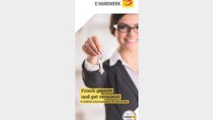 """Flyer """"E-Check: Frisch geprüft und"""