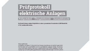 Prüfprotokoll elektrischer Anlagen