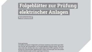 Folgeblätter zum Prüfprotokoll elektrischer Anlage