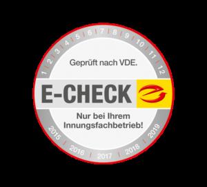 E-CHECK Aufkleber E-Marke