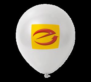 Luftballons, weiß mit