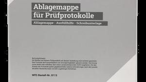 Ablagemappe für Prüfprotokolle