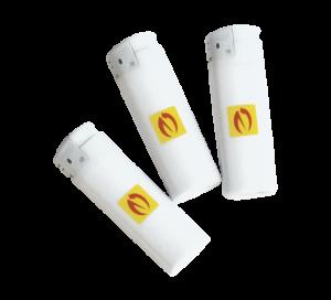 Gasfeuerzeug, weiß