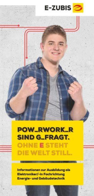 """E-Zubis/Berufsinformationsflyer """"Power-Worker"""""""