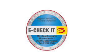 "Prüfplakette ""E-CHECK IT"""