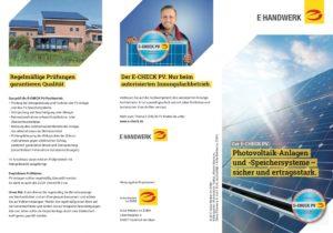 """Flyer """"PV-Anlagen und -Speichersysteme"""